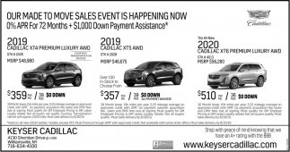 East Fayetteville Auto Sales >> Our Made to Move Sales Event is Happening Now, Keyser Cadillac, Amherst, NY