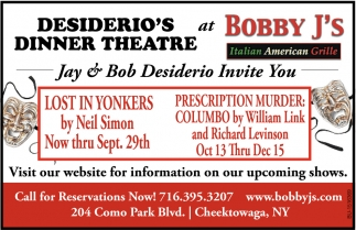 Desiderio's Dinner Theatre at Bobby J's