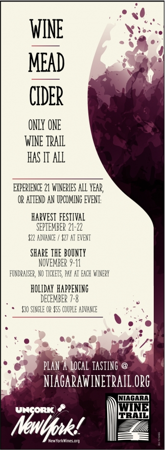 Experience 21 Wineries All Year, or Attend an Upcoming Event!
