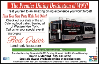 The Premier Dining Destination of WNY!