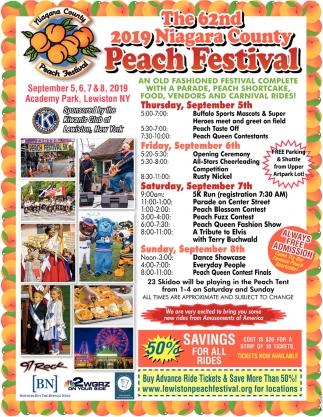 The 62th 2018 Niagara County Peach Festival