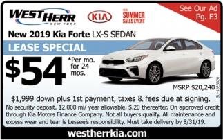 New 2019 Kia Forte LX-S Sedan