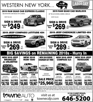 Towne Auto Sales >> Labor Day Sales Event Towne Auto Orchard Park Ny