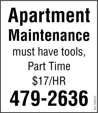 Apartment Maintenance