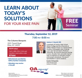 Learn About Today's Solutions for Your Knee Pain