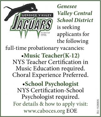 Music Teacher & School Psychologist