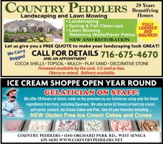Ice Cream Shoppe Open Year Round