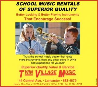 School Music Rentals of Superior Quality