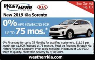 New 2019 Kia Sorento