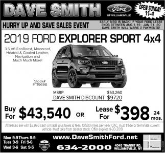 2019 Ford Explorer Sport 4x4