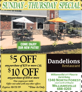 Come Enjoy Our New Patio!