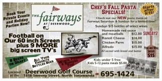 Chef's Fall Pasta Specials!