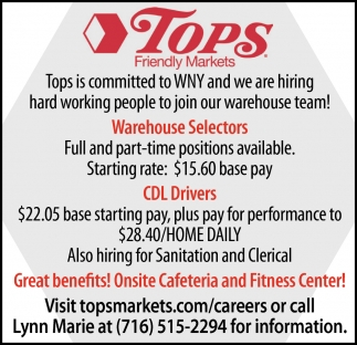 Warehouse Selectors & CDL Drivers Wanted