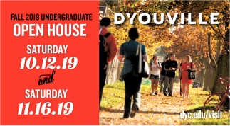 Fall 2019 Undergraduate Open House
