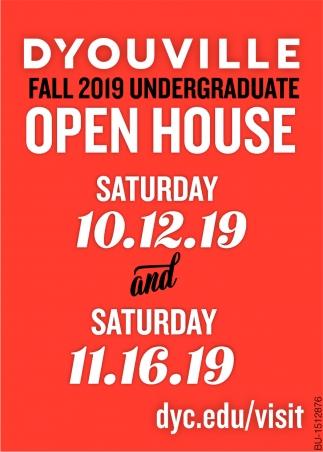 Fall 2019 Undergraduate Open House