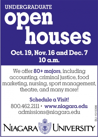 Undergraduate Open Houses