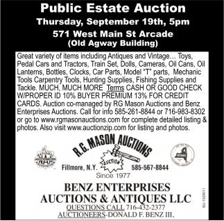 Public Estate Auction
