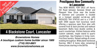 Prestigious New Community in Lancaster