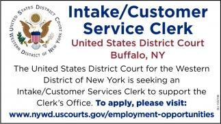 Intake/Customer Service Clerk