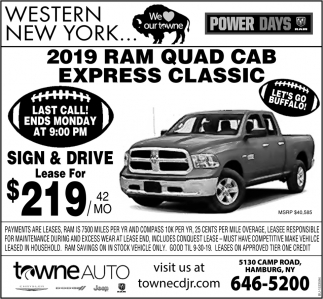 2019 Ram Quad Cab Express Classic