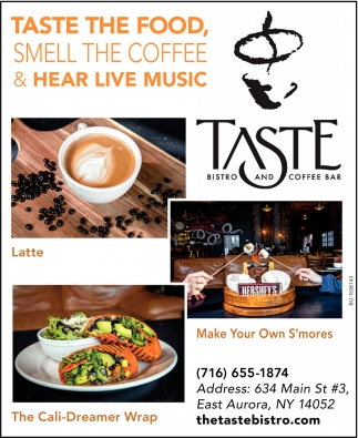 Taste the Food, Smell the Coffee & Hear Live Music
