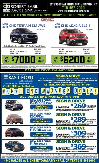 Month End Madness Deals!