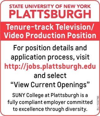 Tenure-Track Television/ Video Production Position