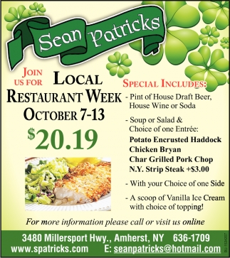Join Us for Local Restaurant Week