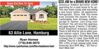 $232,490 for a Brand New Home!