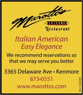 Italian American Easy Elegance