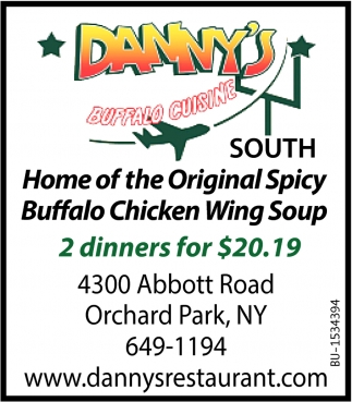 Home of the Original Spicy Buffalo Chicken Wing Soup