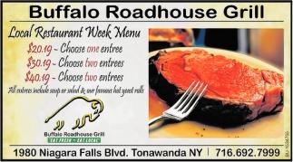 Local Restaurant Week Menu