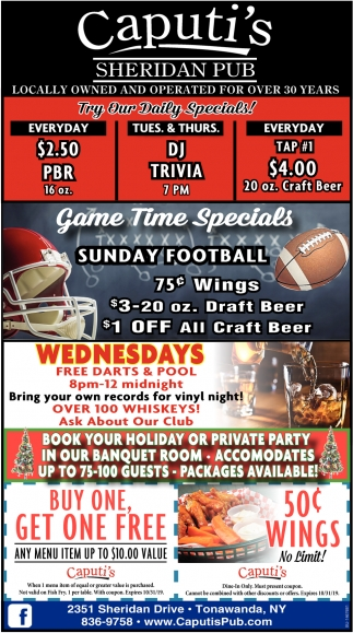 Game Time Specials