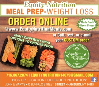 Equity Nutrition Meal Prep-Weight Loss