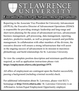 Executive Director of Advancement Operations