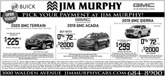 Pick Your Payment at Jim Murphy!