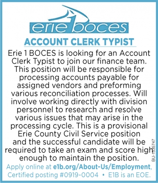 Account Clerk Typist