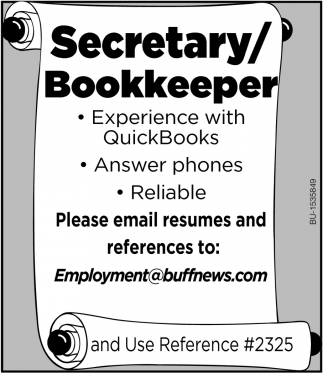 Secretary/ Bookkeeper