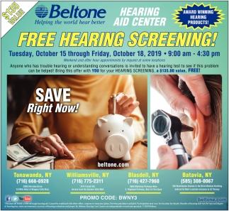 FREE Hearing Screening!