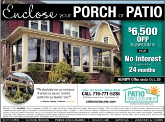 Enclose Your Porch or Patio