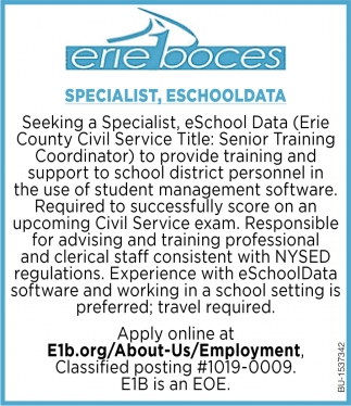 Specialist, eSchool Data