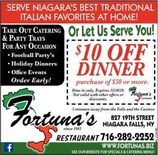 Let Us Serve You!