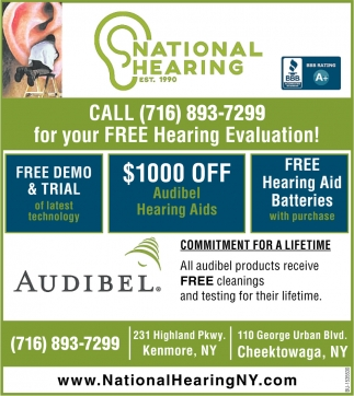 Call for Your FREE Hearing Evaluation!