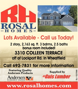 Lots Available - Call Us Today!