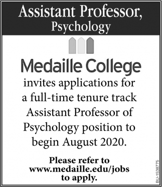 Assistant Professor, Psychology