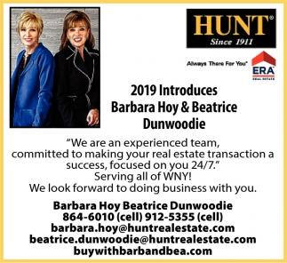 2019 Introduces Barbara Hoy & Beatrice Dunwoodie