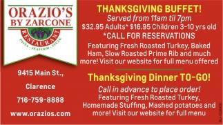 Thanksgiving Buffet!