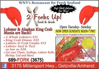 Lobster & Alaskan King Crab Mania are Back!