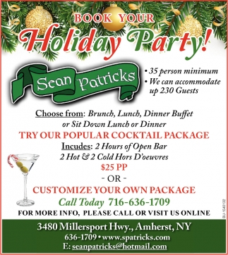 Book Your Holiday Party!