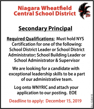 Secondary Principal